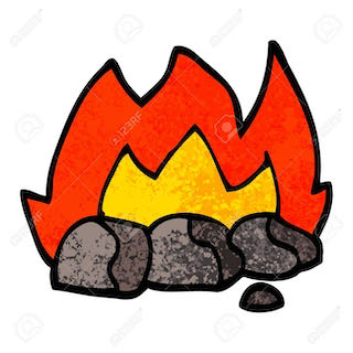 a burning hot coal