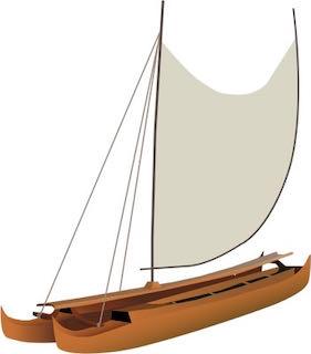 a hawaiian canoe