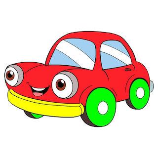 a fast car