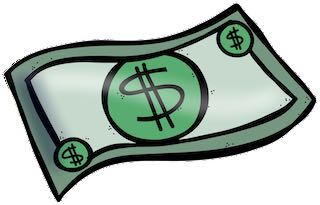 a dollar money