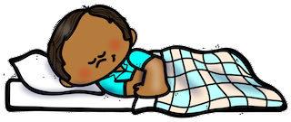 a boy sleeping on a pillow