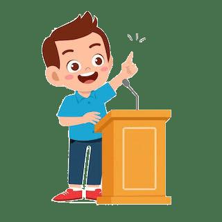 a boy giving a speech